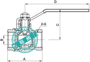 螺纹铜球阀结构尺寸