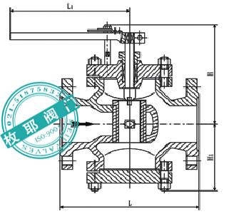 回转式调节阀结构图